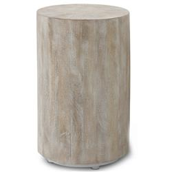 Kismet Coastal Beach Mango Driftwood Round End Table