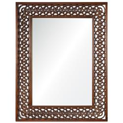 Nomusa Global Bazaar Hand Carved Wood Mirror