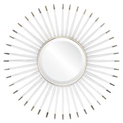 Livvie Hollywood Regency Acrylic Silver Sunburst Mirror
