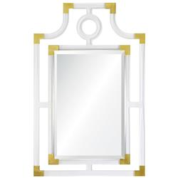 Jayne Hollywood Regency Acrylic Gold Geometric Mirror