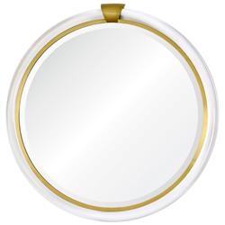 Silvia Hollywood Regency Acrylic Gold Mirror - 36D