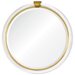 Silvia Hollywood Regency Acrylic Gold Wall Mirror - 36D