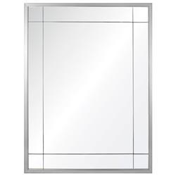 Ellen Modern Classic Silver Leaf Panel Mirror