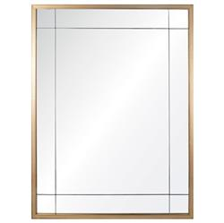 Ellen Modern Classic Gold Leaf Panel Mirror
