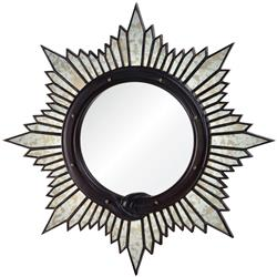 Charlize Global Bazaar Oxblood Sunburst Mirror