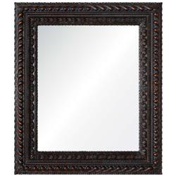 Themba Global Bazaar Dark Brown Hand Carved Mirror