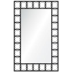 Erica Modern Classic Dark Textured Iron Mirror