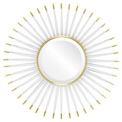 Livvie Hollywood Regency Acrylic Gold Sunburst Mirror