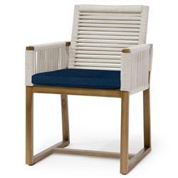 Palecek San Martin Coastal Beach Navy Rope Wrapped Outdoor Arm Chair