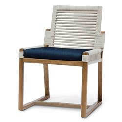 Palecek San Martin Coastal Beach Navy Rope Wrapped Outdoor Side Chair