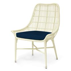 Palecek Lucca Modern Classic Cream Outdoor Chair - Navy