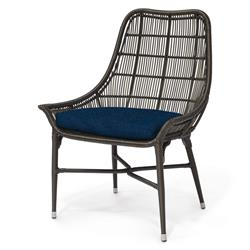 Willow Modern Classic Espresso Outdoor Chair - Navy