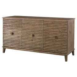 Mr. Brown Belmont Modern Classic Rustic Pine Corrugated Sideboard