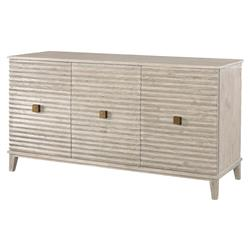 Mr. Brown Belmont Modern Classic Rustic White Corrugated Sideboard