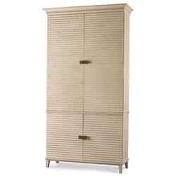 Mr. Brown Belmont Rustic Lodge White Pine Corrugated Wardrobe