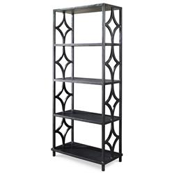 Mr. Brown Wolfgang Modern Classic Antique Graphite Fret Bookcase