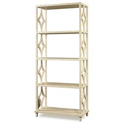 Mr. Brown Wolfgang Modern Classic Antique Ivory Fret Bookcase
