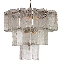 Mr. Brown Aberdeen Modern Classic Lucite Glass Pane Chandelier