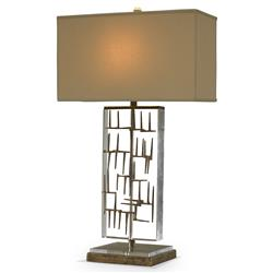 Mr. Brown Bruno Modern Pieced Gold Fretwork Acrylic Table Lamp