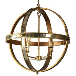 Mr. Brown Galaxy Regency Antique Brass Mirrored Astronomy Pendant