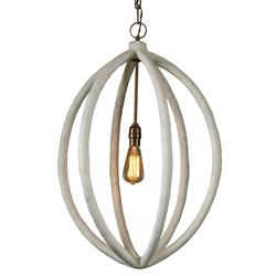 Mr. Brown Chandelier Modern Classic White Pod Pendant