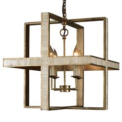 Mr. Brown Hanover Modern Classic Cube Rustic Gold Bone Pendant