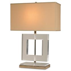 Mr. Brown Helsinki Modern Square Acrylic Nickel Table Lamp