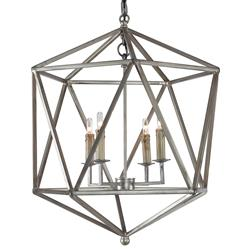 Mr. Brown Orion Industrial Rustic Silver Geometric Pendant