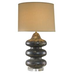 Mr. Brown Pagoda Hollywood Rustic Sapphire Bubble Table Lamp