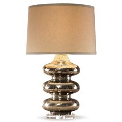 Mr. Brown Pagoda Hollywood Gold Mercury Bubble Table Lamp