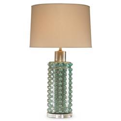 Mr. Brown Positano Coastal Dotted Glass Seafoam Silver Table Lamp