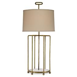 Mr. Brown Tanhmere Modern Hammered Gold Cage Marble Table Lamp