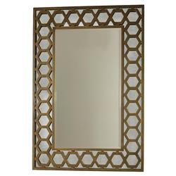 Mr. Brown Angeline Modern Classic Hexagon Gold Panel Mirror