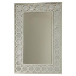 Mr. Brown Angeline Modern Classic Hexagon White Panel Mirror