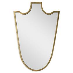 Mr. Brown Baron Modern Classic Antique Gold Shield Mirror