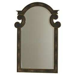 Mr. Brown Camille Hollywood Regency Grey Faux Shagreen Brass Mirror