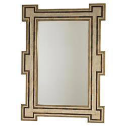 Mr. Brown Constanta Global Bazaar Rustic Gold Ivory Inlaid Bone Mirror