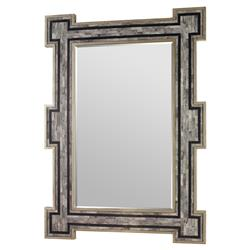 Mr. Brown Constanta Global Bazaar Rustic Silver Grey Inlaid Bone Mirror