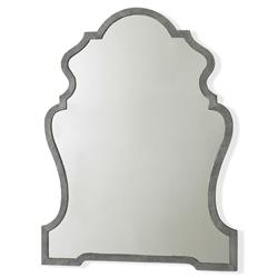 Mr. Brown Ferdinand Modern Storm Grey Faux Shagreen Antique Mirror