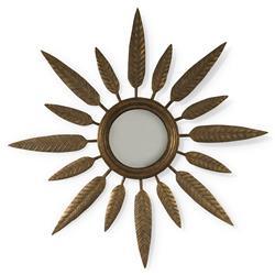 Mr. Brown Lukas Global Bazaar Ivory Gesso Sunburst Leaf Mirror