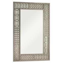 Mr. BrownTito Modern Grey Oak Pattern Patchwork Framed Mirror