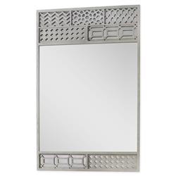 Mr. Brown Tito Modern Classic Grey Oak Pattern Patch Accent Mirror