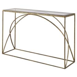 Mr. Brown Adelaide Modern Classic Arch Champagne Gold Console Table