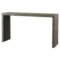 Mr. Brown Belmont Modern Industrial Grey Pine Console Table