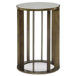Mr. Brown Brixham Modern Classic Gold Marble Round End Table