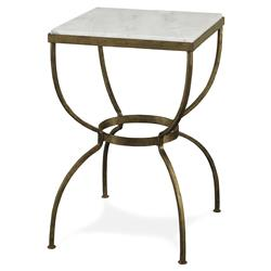 Mr. Brown Buckland Global Gold Marble Square End Table