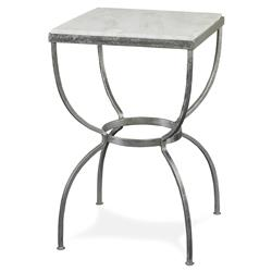Mr. Brown Buckland Modern Classic Silver Marble Square End Table