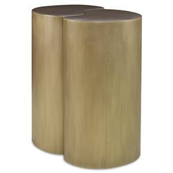 Mr. Brown Figaro Modern Antique Brass End Table