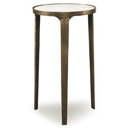 Mr. Brown Skipton Modern Classic Flat Gold Marble End Table