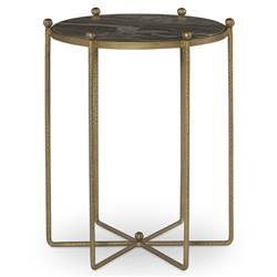 Mr. Brown Tangmere Global Granite Gold Spindle End Table - 20D
